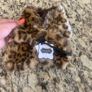 Leopard print scarf or stole for toddler - Mud Pie